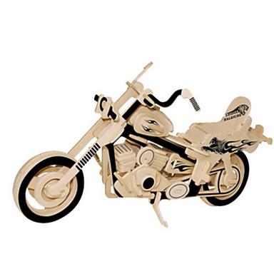 قطع تركيب3D تركيب معدني النماذج الخشبية مجموعات البناء الدراجات النارية اصنع بنفسك الخشب الطبيعي كلاسيكي للأطفال للبالغين للجنسين هدية