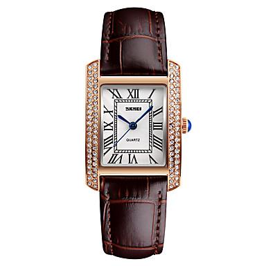 5c3ce561e12 Mulheres Relógio de Pulso Japanês Quartzo Couro Preta   Branco   Vermelho  30 m Impermeável Legal