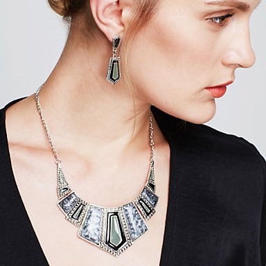 Dames Sieraden Set Druppel oorbellen Bib kettingen Vintage Feest Werk Informeel Opvallende sieraden Feest Speciale gelegenheden