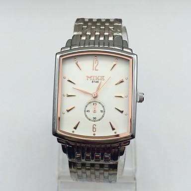 Heren Dress horloge Polshorloge Kwarts Roestvrij staal Band Vintage Zilver