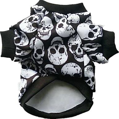 Câine Costume Îmbrăcăminte Câini Cosplay Halloween Cranii Alb Negru Curcubeu