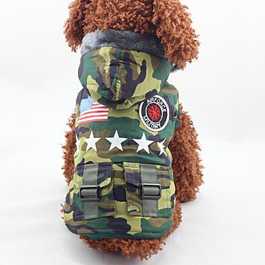 Hund Kapuzenshirts Hundekleidung Lässig/Alltäglich Geometrisch Tarnfarbe