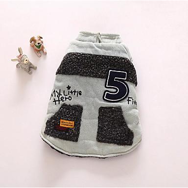 Hund Weste Hundekleidung Atmungsaktiv Lässig/Alltäglich Buchstabe & Nummer Dunkelblau Grau Kostüm Für Haustiere