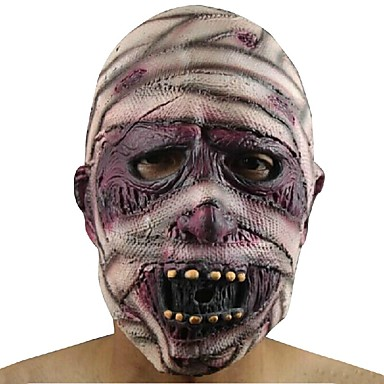 1pcs latex de cauciuc de cauciuc grimasa masca mumie pentru adulți consumabile de Halloween parte