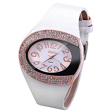 Pentru femei Quartz Simulat Diamant Ceas Chineză imitație de diamant Piele Bandă Sclipici Unic Watch Creative Modă Alb Roșu Maro