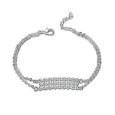 Pentru femei Fete Cristal Argilă Brățări cu Lanț & Legături - Prietenie Modă Stâncă Punk Geometric Shape Argintiu Brățări Pentru Cadouri