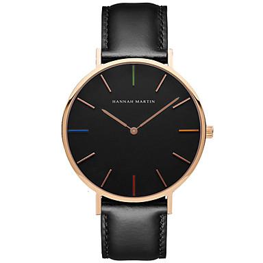 Bărbați Ceas Elegant  Ceas La Modă Quartz Piele Autentică Bandă Casual Negru Maro