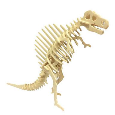 Puzzle 3D Puzzle Modele de Lemn Μοντέλα και κιτ δόμησης Dinosaur Animal 3D Simulare Reparații Lemn Lemn natural Clasic Unisex Cadou