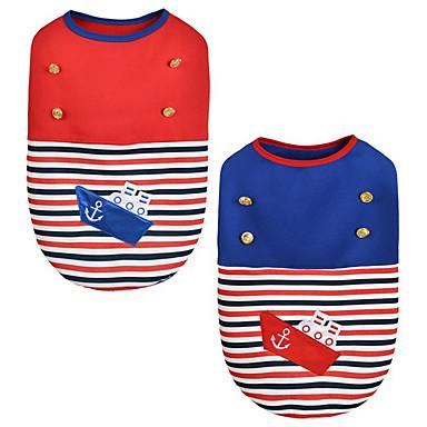 Hund Weste Hundekleidung Warm warm halten Seefahrer Rot Blau Kostüm Für Haustiere