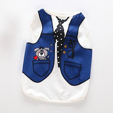 Hond Gilet Hondenkleding Ademend Casual/Dagelijks Brits Donkerblauw Lichtblauw Kostuum Voor huisdieren