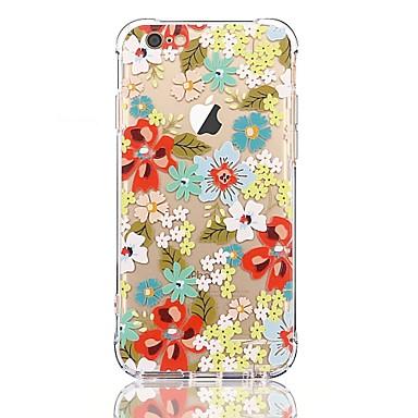 Hülle Für Apple iPhone 7 Plus iPhone 7 Transparent Muster Rückseite Blume Weich TPU für iPhone 7 Plus iPhone 7 iPhone 6s Plus iPhone 6s