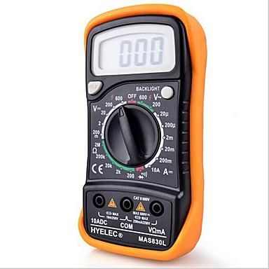 hyelec mas830l mini digitale multimeter backlight handheld multifunctionele multimeter