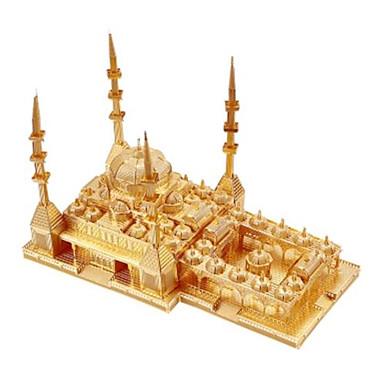 Spielzeug-Autos 3D - Puzzle Holzpuzzle Metallpuzzle Rechteckig Quadratisch Neuheit Berühmte Gebäude Architektur 3D Heimwerken Aluminium