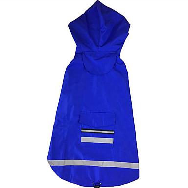 Hund Regenmantel Hundekleidung Solide Rot Blau Acrylfasern Kostüm Für Haustiere Herrn Damen Lässig/Alltäglich