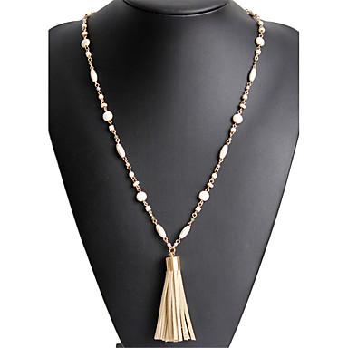 Damen Anhängerketten  -  Einzigartiges Design Anhänger Britisch Geometrische Form Beige Modische Halsketten Für Geburtstag Abschluss Danke