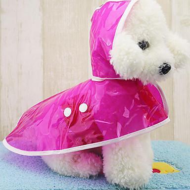 Hond Regenjas Hondenkleding Casual/Dagelijks Effen Fuchsia Groen Blauw