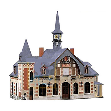Spielzeug-Autos 3D - Puzzle Papiermodel Papiermodelle Schleppe Berühmte Gebäude Architektur 3D Heimwerken Klassisch Europäischer Stil Züge