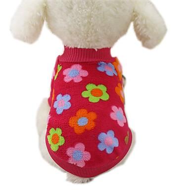 Hund Mäntel T-shirt Pullover Hundekleidung Lässig/Alltäglich Modisch Streifen Rose Braun Rot Blau Streifen Kostüm Für Haustiere