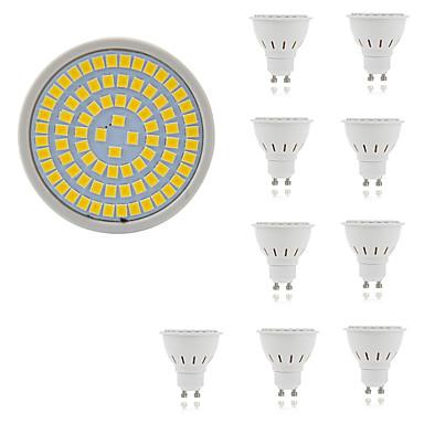 10pcs 5W 400lm GU10 GU5.3 LED ضوء سبوت 80 الخرز LED SMD 2835 ديكور أبيض دافئ أبيض كول 220-240V
