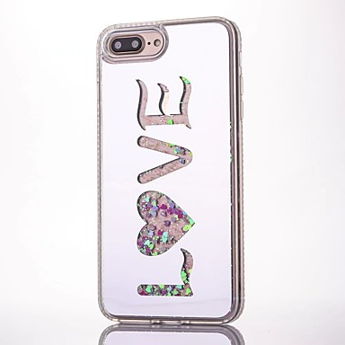 Care curge lichid model de dragoste spate acoperi moale TCP pentru Apple iphone 6 plus 6s plus iphone 6 6s