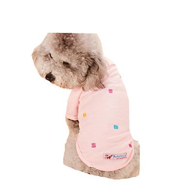 كلب T-skjorte ملابس الكلاب كاجوال/يومي الأزهار/النباتية رمادي أزرق زهري كوستيوم للحيوانات الأليفة