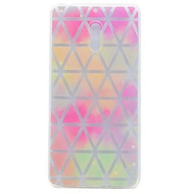Hülle Für Nokia Transparent Muster Rückseite Geometrische Muster Weich TPU für Nokia 6