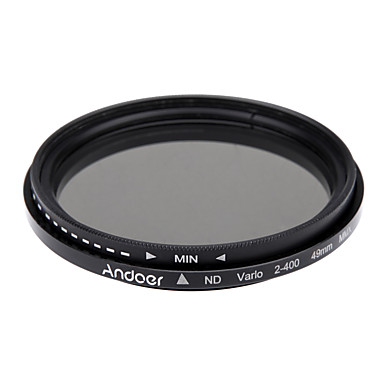 Andoer 49mm nd fader neutrale dichtheid instelbaar nd2 naar nd400 variabel filter voor Canon Nikon DSLR camera