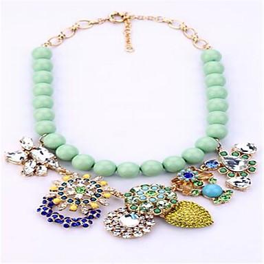 Pentru femei Coliere Imitație de Perle Ștras Flower Shape Copacul Vieții Aliaj Personalizat Modă Ajustabile Cute Stil Bijuterii Pentru