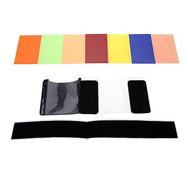 andoer® vierkante filter kit 7 kleuren Universal Speedlite met mgica Korea voor sony canon nikon olympus pentax en andere flitsen