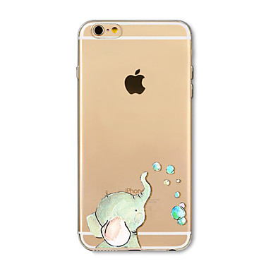 Hülle Für Apple iPhone X iPhone 8 Plus Transparent Muster Rückseite Elefant Weich TPU für iPhone X iPhone 8 Plus iPhone 8 iPhone 7 Plus