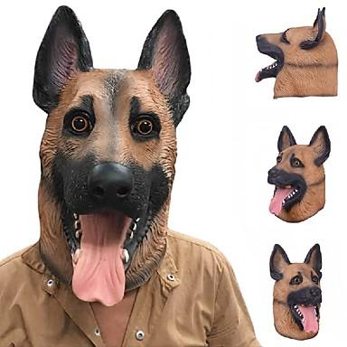 جديد بارد الذئب الكلب كامل الوجه قناع هالوين الهدايا صديقة للبيئة الطبيعة اللاتكس نابض بالحياة الكلب رئيس قناع تأثيري حزب اللباس