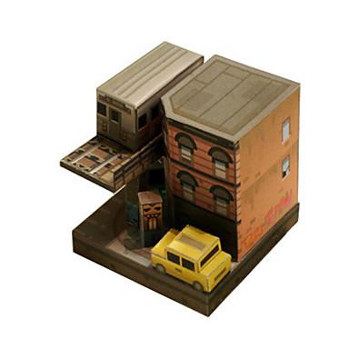 3D-puzzels Papierkunst Beroemd gebouw Architectuur 3D DHZ Hard Kaart Paper Klassiek Cartoon Unisex Geschenk