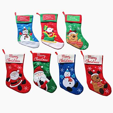 Kerst kous santa claus sokken ornament snoep tas kerstboom hanger hanger decoratie levert cadeau (stijl willekeurig)