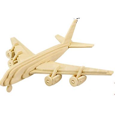 3D-puzzels Legpuzzel Metalen puzzels Houten modellen Modelbouwsets Vliegtuig 3D DHZ Hout Natuurlijk Hout Klassiek Kinderen Volwassenen