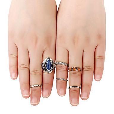 للمرأة خاتم صفعة الدائري خواتم حزام أسلوب بانك هيب هوب Rock euramerican في موضة سبيكة معدنية راتينج سبيكة Round Shape Geometric Shape
