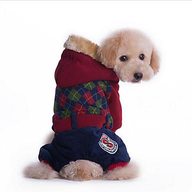 كلب هوديس حللا ملابس الكلاب متنفس كاجوال/يومي بريطاني أحمر أخضر كوستيوم للحيوانات الأليفة