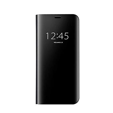 Недорогие Чехлы и кейсы для Galaxy S6 Edge-Кейс для Назначение SSamsung Galaxy S8 Plus / S8 / S7 edge Зеркальная поверхность / Авто Режим сна / Пробуждение Чехол Однотонный Твердый пластик