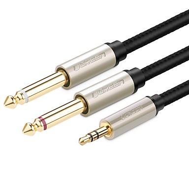 UGREEN 3,5 mm Audio Jack Kabel, 3,5 mm Audio Jack to 6.35mm Kabel Male - Male 1.0m (3Ft)