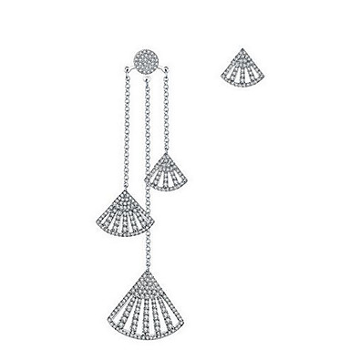 Damen Tropfen-Ohrringe Schmuck Anhänger Stil Nicht übereinstimmen Sterling Silber Schmuck Für Alltagskleidung Kleid