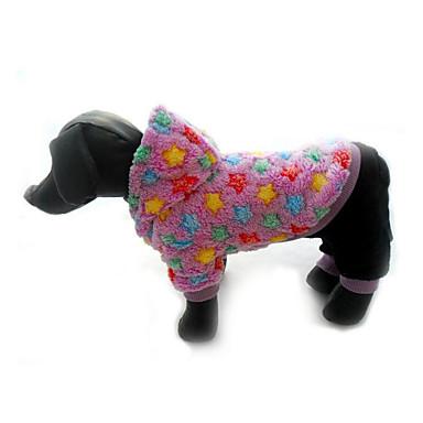 كلب حللا ملابس الكلاب كاجوال/يومي نجوم أرجواني أزرق