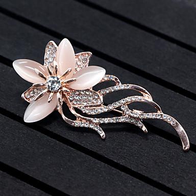 Damen Broschen Synthetischer Opal Blumen Stil Blumen Aleación Blumenform Tierform Schmuck Für Hochzeit Party Besondere Anlässe Party /