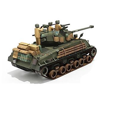 3D - Puzzle Papiermodelle Spielzeuge Quadratisch Panzer 3D Heimwerken Simulation Hartkartonpapier Unisex Stücke