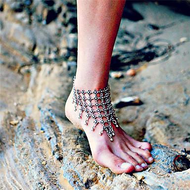 Blote voeten sandalen - Dames Zilver Modieus Bloem Enkelring  Voor Dagelijks Causaal Outdoorkleding Uitgaan