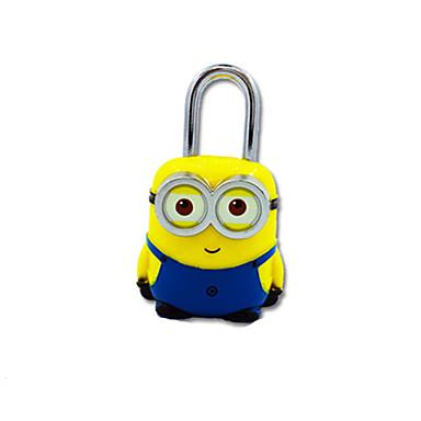Jy-80060 abs Material Passwort Vorhängeschloss 3-stelliges Passwort Mini-Sperre gelb Boxer Lock Lock Anti-Diebstahl Reise Schrank Dail