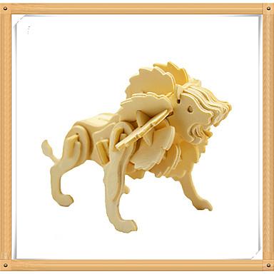 3D - Puzzle Holzpuzzle Holzmodelle Modellbausätze Löwe Tier 3D Tiere Heimwerken Hölzern Holz Kinder Unisex Geschenk
