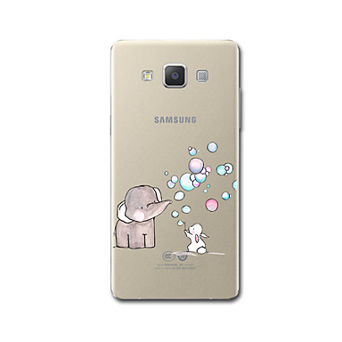 hoesje Voor Samsung Galaxy A5(2017) A3(2017) Transparant Patroon Achterkant Olifant Cartoon Zacht TPU voor A3 (2017) A5 (2017) A7 (2017)