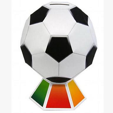 قطع تركيب3D كرات نموذج الورق لعبة كرة القدم أشغال الورق مجموعات البناء مستطيل مربع كرة القدم 3D اصنع بنفسك كلاسيكي للرجال للأطفال هدية