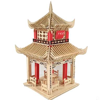 3D-puzzels Legpuzzel Hout Model Modelbouwsets Speeltjes Rechthoekig Vierkant DHZ Hout Natuurlijk Hout Niet gespecificeerd Stuks