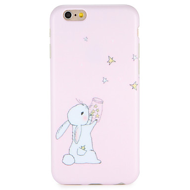 hoesje Voor Apple iPhone 7 Plus iPhone 7 IMD Achterkant Cartoon dier Zacht TPU voor iPhone 7 Plus iPhone 7 iPhone 6s Plus iPhone 6s