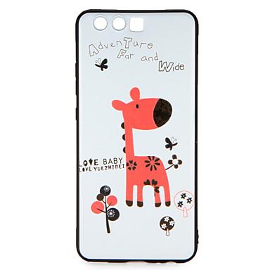 Hülle Für Huawei Muster Rückseite Wort / Satz Cartoon Design Weich TPU für P10 Plus P10 Huawei